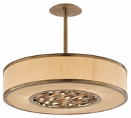 Troy F3156 Serengeti Bronze Leaf Finish 24.125  Wide Drum Hanging Light Fixture