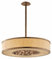 Troy F3157 Serengeti Bronze Leaf Finish 6.75  Tall Drum Drop Lighting
