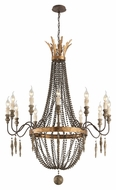 Troy F3537 Delacroix French Bronze Finish 35.625  Wide Candle Chandelier Lighting
