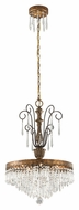 Troy F3775 Le Marais Gold Leaf Finish 18  Wide Mini Chandelier Light