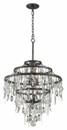 Troy F3807 Bistro Graphite Finish with Antique Pewter Flatware 27.5  Tall Chandelier Lighting