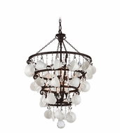 Troy F3825 Barista Modern Vintage Bronze Finish 30  Wide Chandelier Lighting