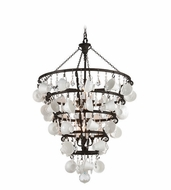 Troy F3826 Barista Contemporary Vintage Bronze Finish 48  Tall Lighting Chandelier