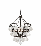 Troy F3827 Barista Modern Vintage Bronze Finish 29  Wide Chandelier Lamp