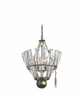 Troy F3944 121 Main Old Silver Finish 24  Wide Chandelier Light