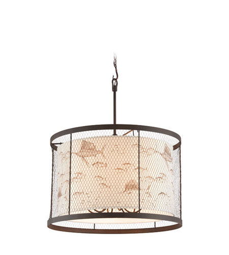 Troy F4027 Catch N Release Nautical 30 Wide Drum Hanging Pendant
