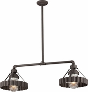 Troy F4248 Canary Wharf Nautical Burnt Sienna Island Lighting