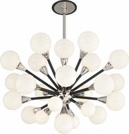 Troy F4286 Nebula Hand Worked Wrought Iron Halogen Chandelier Lighting