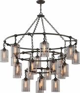Troy F4426 Gotham Hand Worked Wrought Iron Chandelier Light