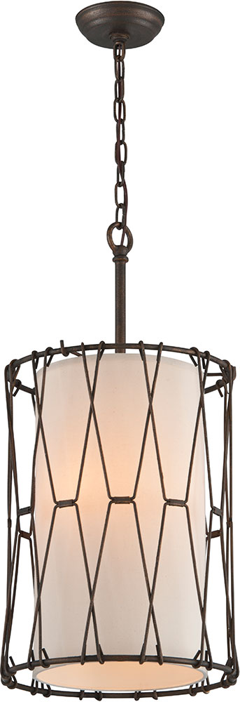 troy f4463 buxton hand worked wrought iron drum pendant. Black Bedroom Furniture Sets. Home Design Ideas
