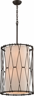 Troy F4464 Buxton Hand Worked Wrought Iron Drum Pendant Light