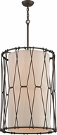 Troy F4465 Buxton Hand Worked Wrought Iron Drum Lighting Pendant