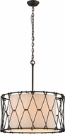 Troy F4466 Buxton Hand Worked Wrought Iron Drum Pendant Lamp