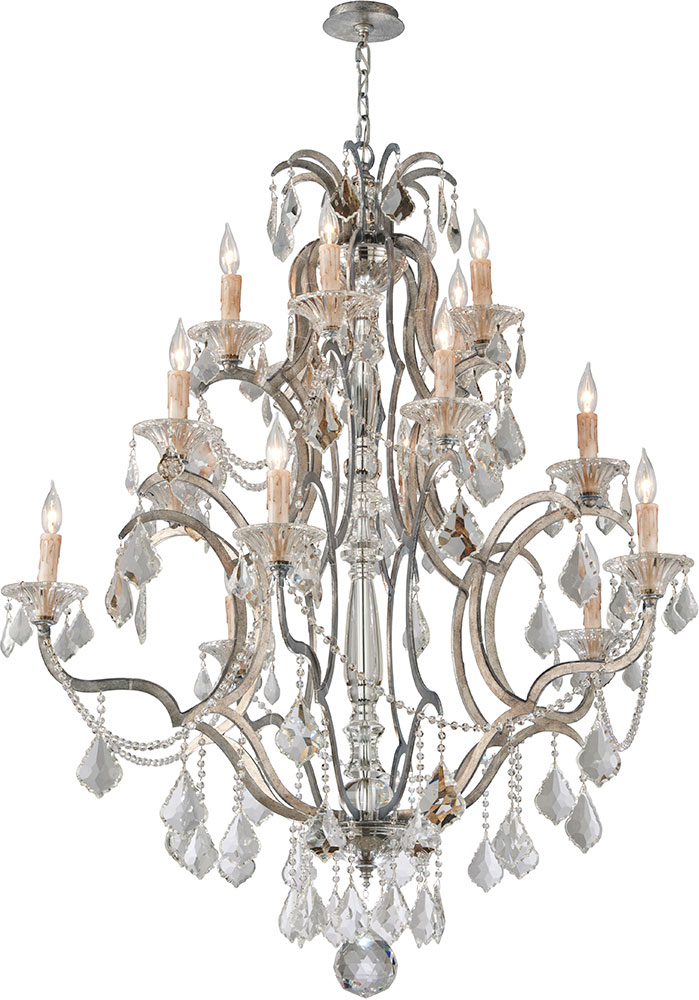 Troy F4577 Montparnasse Hand Worked Wrought Iron Lighting – Wrought Iron Lighting Chandelier