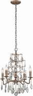 Troy F4743 Siena Hand Worked Iron And Cast Aluminum Mini Ceiling Chandelier