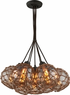 Troy F4755 Outer Banks Hand Worked Wrought Iron Multi Hanging Light Fixture