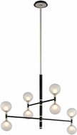 Troy F4825 Andromeda Carbide Black And Polished Nickel Halogen Chandelier Light