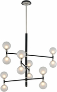 Troy F4826 Andromeda Carbide Black And Polished Nickel Halogen Chandelier Lighting