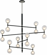 Troy F4827 Andromeda Carbide Black And Polished Nickel Halogen Lighting Chandelier