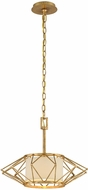 Troy F4863 Calliope Modern Rustic Gold Leaf Small Hanging Pendant Light