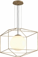 Troy F5215 Silhouette Modern Gold Leaf Large Ceiling Light Pendant
