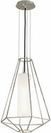 Troy F5253 Silhouette Modern Silver Leaf Small Hanging Light
