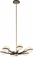 Troy F5303 Ace Contemporary Textured Bronze With Brushed Brass Halogen Small Chandelier Lamp