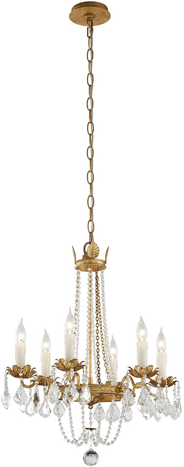 Troy Ffive Viola Traditional Distressed Gold W B Mini Hanging Chandelier Tro F