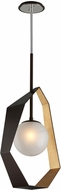 Troy F5524 Origami Contemporary Bronze With Gold Leaf LED Medium Lighting Pendant