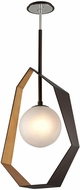 Troy F5525 Origami Modern Bronze With Gold Leaf LED Large Pendant Lamp