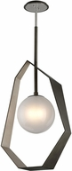 Troy F5535 Origami Modern Graphite With Silver Leaf LED Large Pendant Lighting Fixture