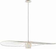 Troy F5646 Tides Contemporary Textured White Large Pendant Light Fixture