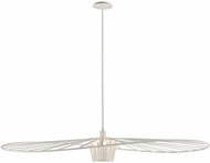 Troy F5648 Tides Modern Textured White Extra Large Pendant Lighting Fixture