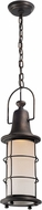 Troy FL4447 Maritime Hand Worked Iron LED Exterior Mini Drop Ceiling Lighting