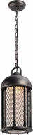 Troy FL4487 Signal Hill Hand Worked Iron LED Outdoor Mini Ceiling Light Pendant