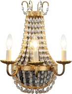 Urban Classic 1433W13GI Roma Golden Iron Sconce Lighting
