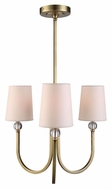 Urban Classic 1444D20BB Toscana Burnished Brass Mini Lighting Chandelier