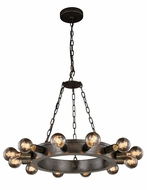 Urban Classic 1500D25AI Winston Contemporary Aged Iron 25 Ceiling Chandelier