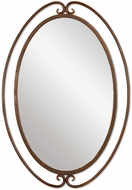 Uttermost 06493 Kilmer Burnished Rust Wrought Iron Wall Mirror