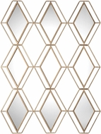 Uttermost 09184 Soren Modern Diamond Gold Wall Mirror