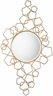 Uttermost 09197 Soraya Contemporary Modern Gold Wall Mounted Mirror