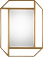 Uttermost 09219 Mendez Modern Antiqued Gold Leaf Wall Mounted Mirror