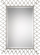 Uttermost 09223 Scipio Modern Metallic Silver Leaf Iron Coil Wall Mounted Mirror