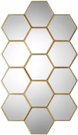 Uttermost 09224 Jarah Contemporary Lightly Antiqued Gold Leaf Honeycomb Mirror