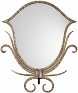 Uttermost 18750 Ardit Lightly Antiqued Metallic Gold Tabletop Mirror