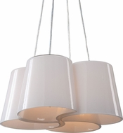 Uttermost 21271 Botanic Modern Polished Nickel Pendant Lamp