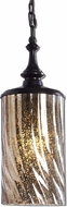 Uttermost 22037 Trabes Contemporary Dark Bronze Metal Mini Hanging Lamp
