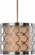 Uttermost 22047 Harwich |Transitional| Brushed Nickel Mini Hanging Light