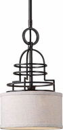 Uttermost 22054 Cupola Weathered Bronze Mini Drum Hanging Light Fixture