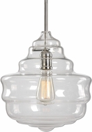 Uttermost 22059 Bristol Modern Polished Nickel Drop Ceiling Light Fixture